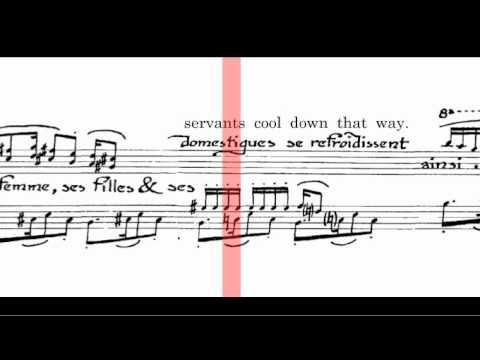 Erik Satie - Le Tango prepétual (Scrolling Score)