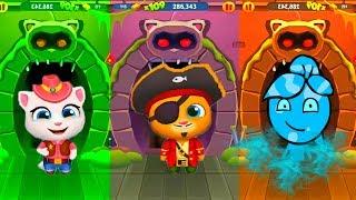 АНДЖЕЛА ПИРАТ против ТОМА! МОЙ ГОВОРЯЩИЙ ТОМ БЕГ ЗА ЗОЛОТОМ мультик игра для детей