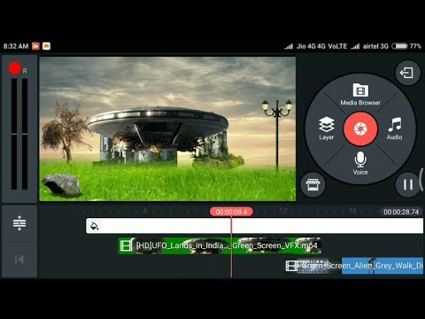 # Kinemaster UFO land vfx editing in your Android mobile!