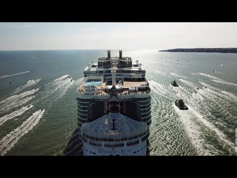 WONDER OF THE SEAS - First sea trial - The biggest cruise ship in the world