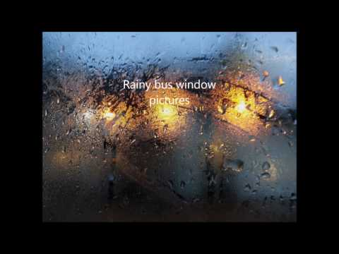 Rainy bus window photo film, South East London