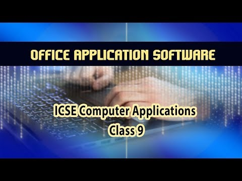 Computer Applications- Office Application Software(Word Processing) | MS Word | 16