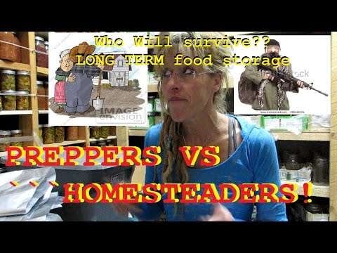 Do Not Buy Emergency Food - Until You Compare Homesteaders Vs Preppers