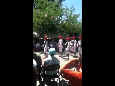 One of the Basque men's dance
