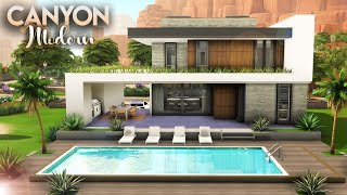 CANYON MODERN + CC LINKS | 2 Bdr + 3 Bth | The Sims 4: Speed Build