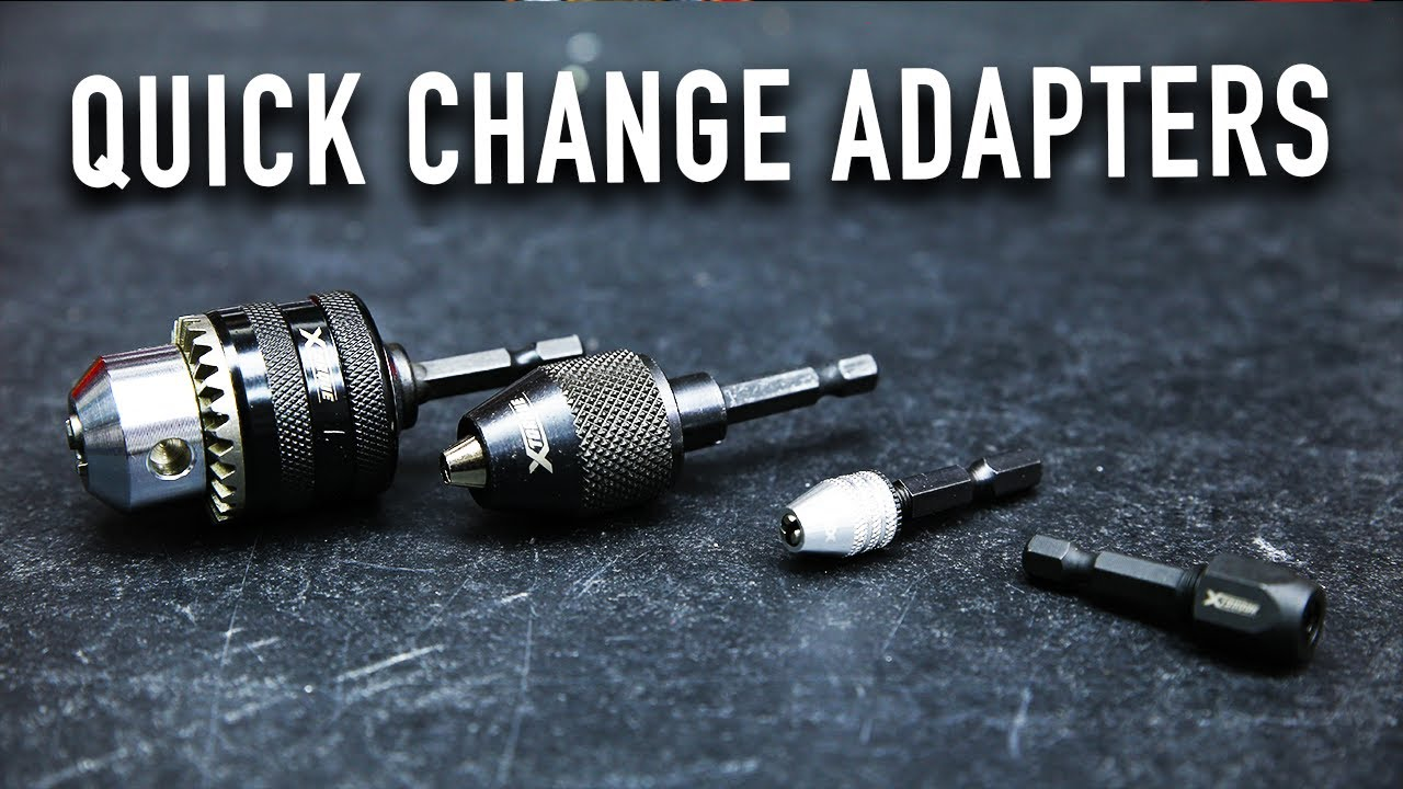 """Quick Change Drill Chuck Adaptor With 1//4/"""" Hex Shank"""