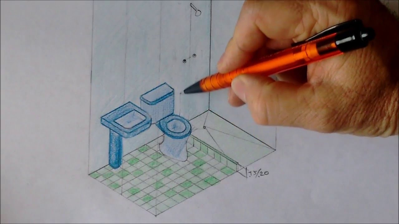 Medidas de un ba o en alzada y planta youtube for Medidas de muebles en planta