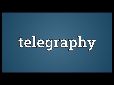 Telegraphy Meaning