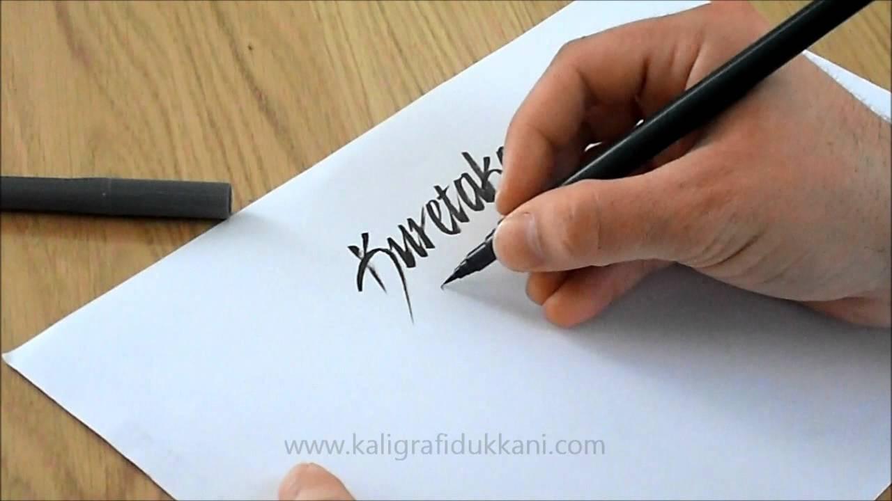 Kuretake brush pen calligraphy youtube