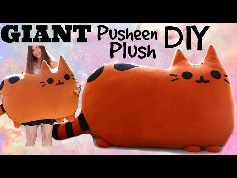 How to Make a GIANT Kawaii Pusheen Stuffed Animal Cat Plush! Comment faire un Grand Peluche de Chat!