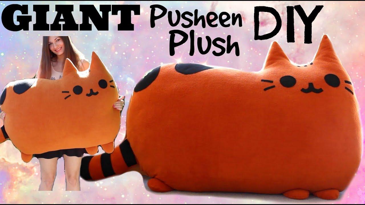 How to Make a GIANT Kawaii Pusheen Stuffed Animal Cat Plush ...