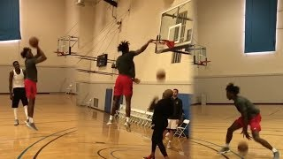 Nassir Little Showing Off Full Arsenal During Workout, Getting Ready For Chapel Hill!