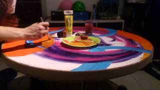 """Timelapse Table Acrylic Painting By Ed"""""""