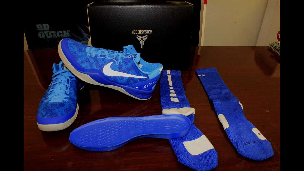 hot sale online 04328 78cb4 Nike Kobe 8 Blue Glow Review