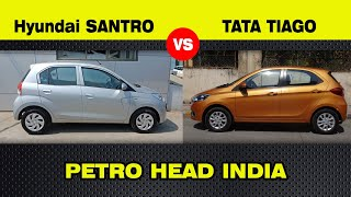 New Hyundai Santro 2018 Vs Tata Tiago, drive and detailed comparison review// By petro head India