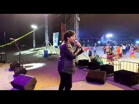 Ake kaadjama.. Aslam Parmar live Dubai Navratri 2019 @wonderland water park. Dubai