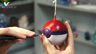 UNIQUE CURVED CANDLE-POKEBALL FROM CANDLE WORKSHOP DIMSI