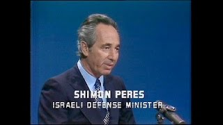 Shimon Peres on Face the Nation in 1975