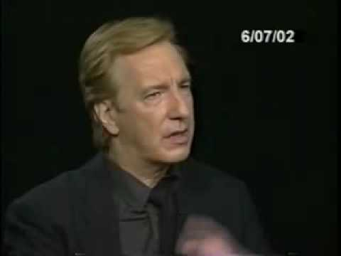 Alan Rickman Interview With Charlie Rose (2/3)