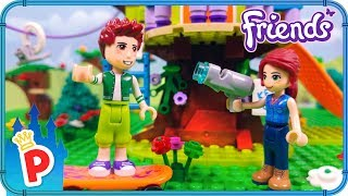 ♥ LEGO Mia Builds Tree House with Daniel Lego Friends Stop-Motion Animation