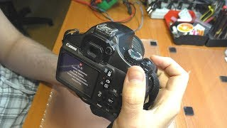 Дешевый ремонт затвора / Ошибка Err 30 на зеркалке Canon 1100D