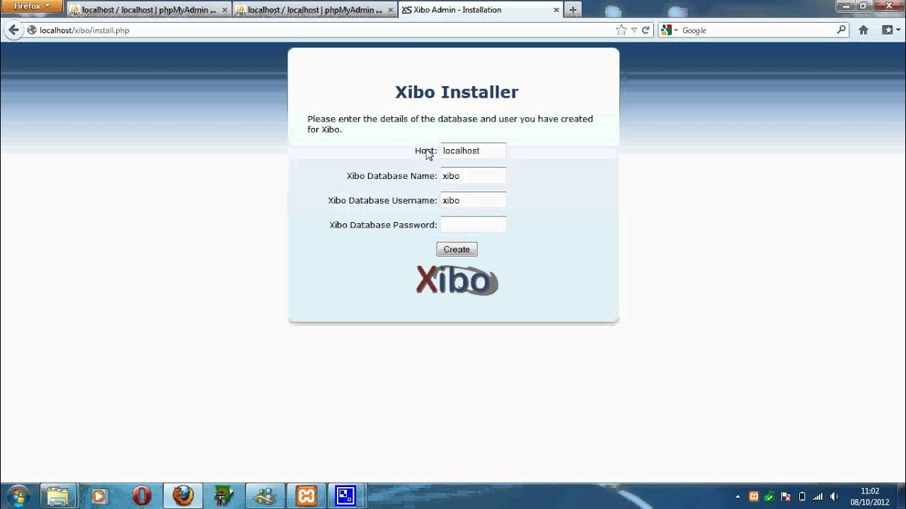 xibo server windows