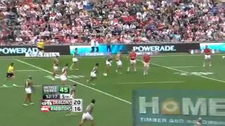 NRL 2011 Round 21 Highlights  Dragons V Rabbitohs