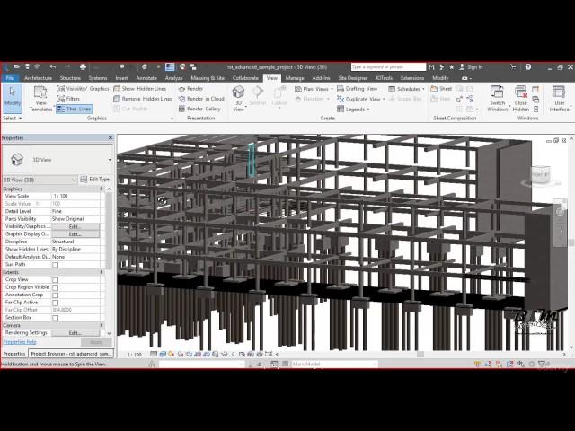 Revit Structures | 08 Pestaña Visibilidad de Gráficos por Vista
