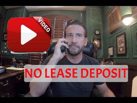 Danny D'Angelo negotiates a FREE LAUNDROMAT lease deposit to ZERO