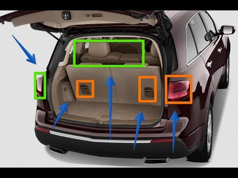 2018 Acura Mdx Trunk Space Youtube