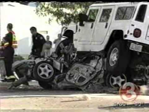 Quot News Quot Hummer Crash With Honda Civic Youtube