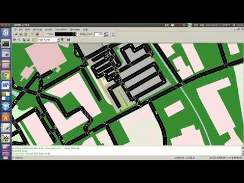 OpenStreetMap Simulation in SUMO V.0.24.0