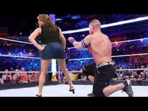 Stephanie Mcmahon Shows Her back to John Cena