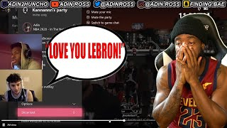 Bronny Let LEBRON Talk To Him In Xbox Party Before Me!