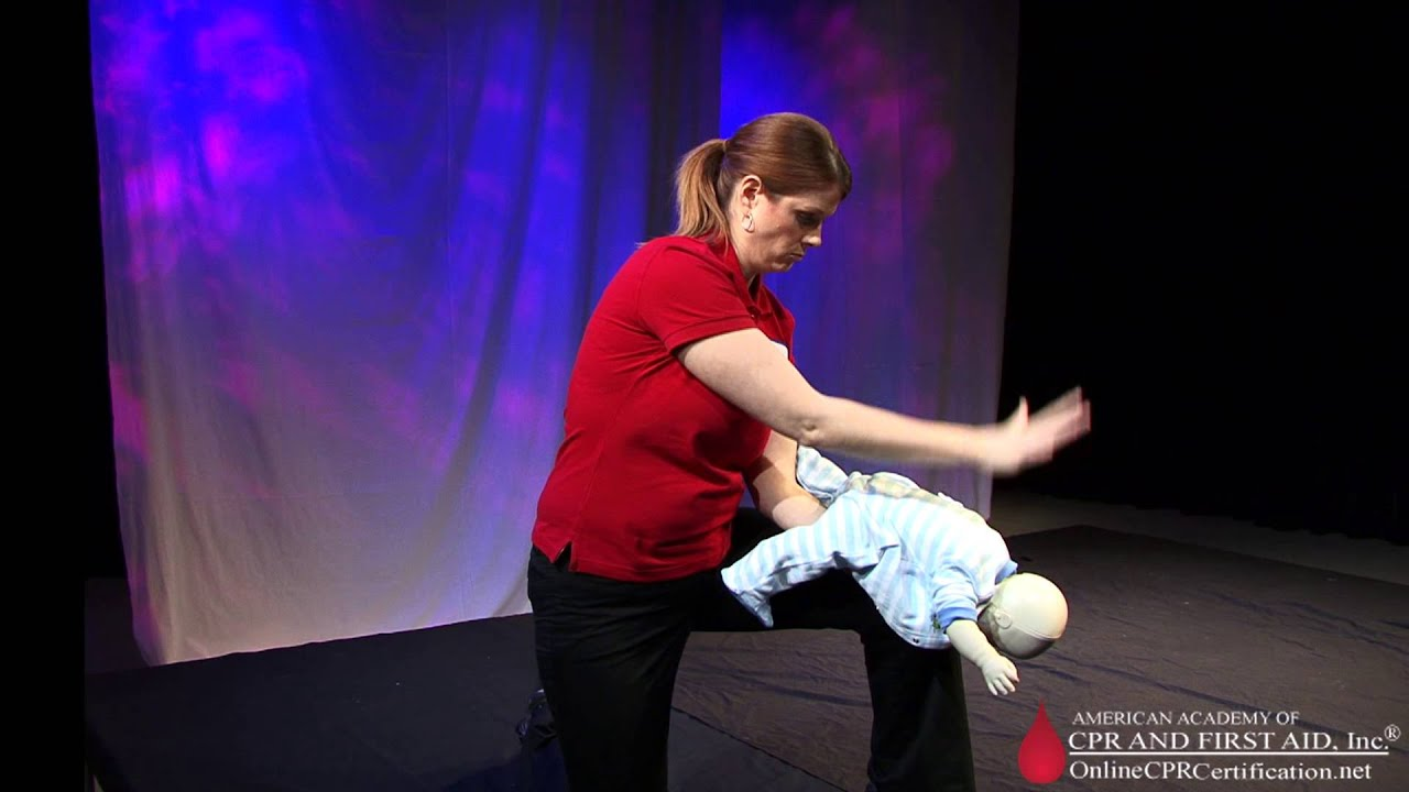 Infant Choking Cpr What To Do If A Baby Is Choking Youtube