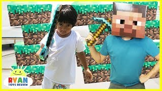 MINECRAFT Roblox and Slither.io In Real Life! Family Fun Pretend Play Surprise Toys Hunt