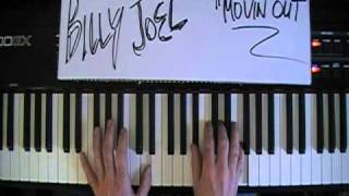 "BillyJoel  ""Movin Out""  Piano Tutorial"