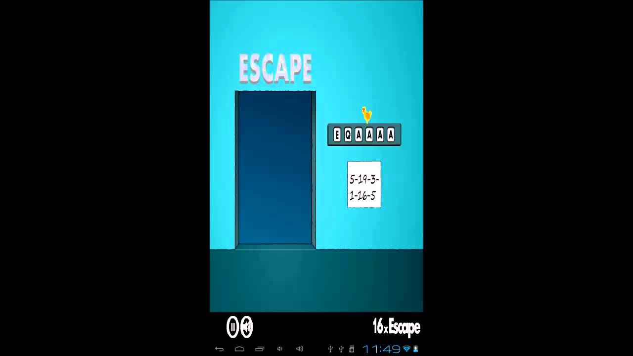 40x escape answers for 16 door puzzle solution