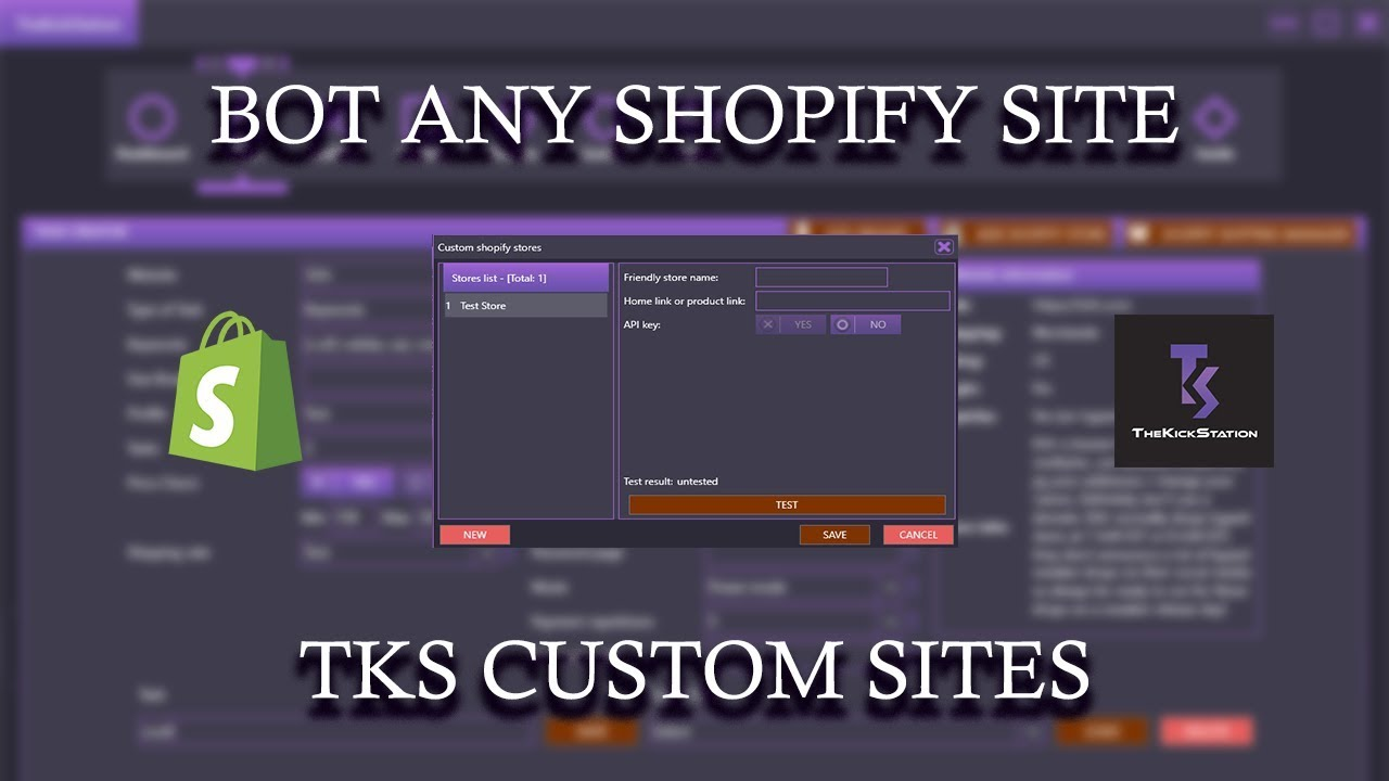 HOW TO BOT ANY SHOPIFY SITE - TKS CUSTOM SITES by Eman - Sneaker Bot  Tutorials