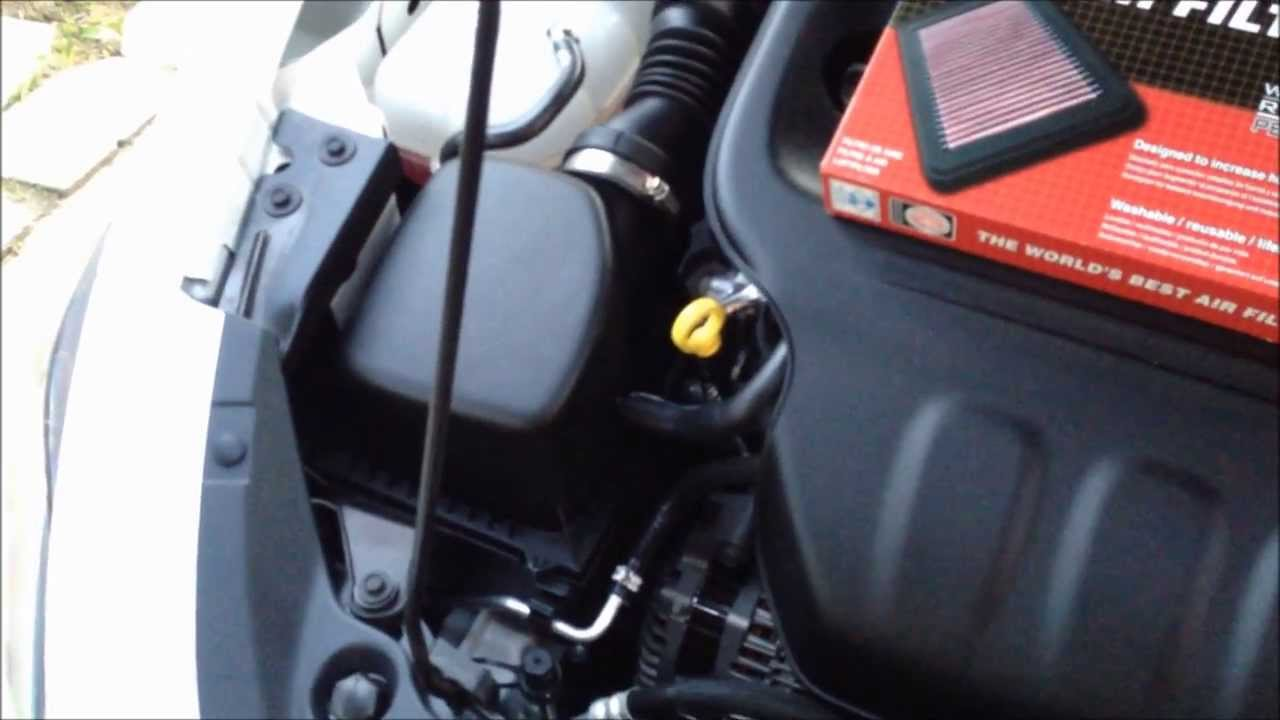 2013 Dodge Dart 2 0l K Amp N Air Filter Installation Youtube