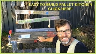 Play Kitchen. Pallet Ideas. How To Build An Awesome Play Kitchen. Using Reclaimed Pallet Wood!