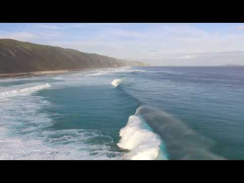 Having a bit of fun in the surf with Phantom 3 Standard.