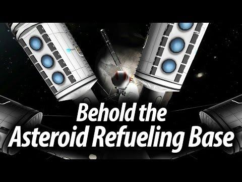 Creating The Asteroid Refueling Base (Tutorial: 26) Kerbal Space Program Stock