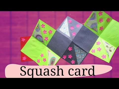 How to make a Squash Card - Squash Book - Greeting Paper Card - DIY Crafts - Scrapbooking Gift