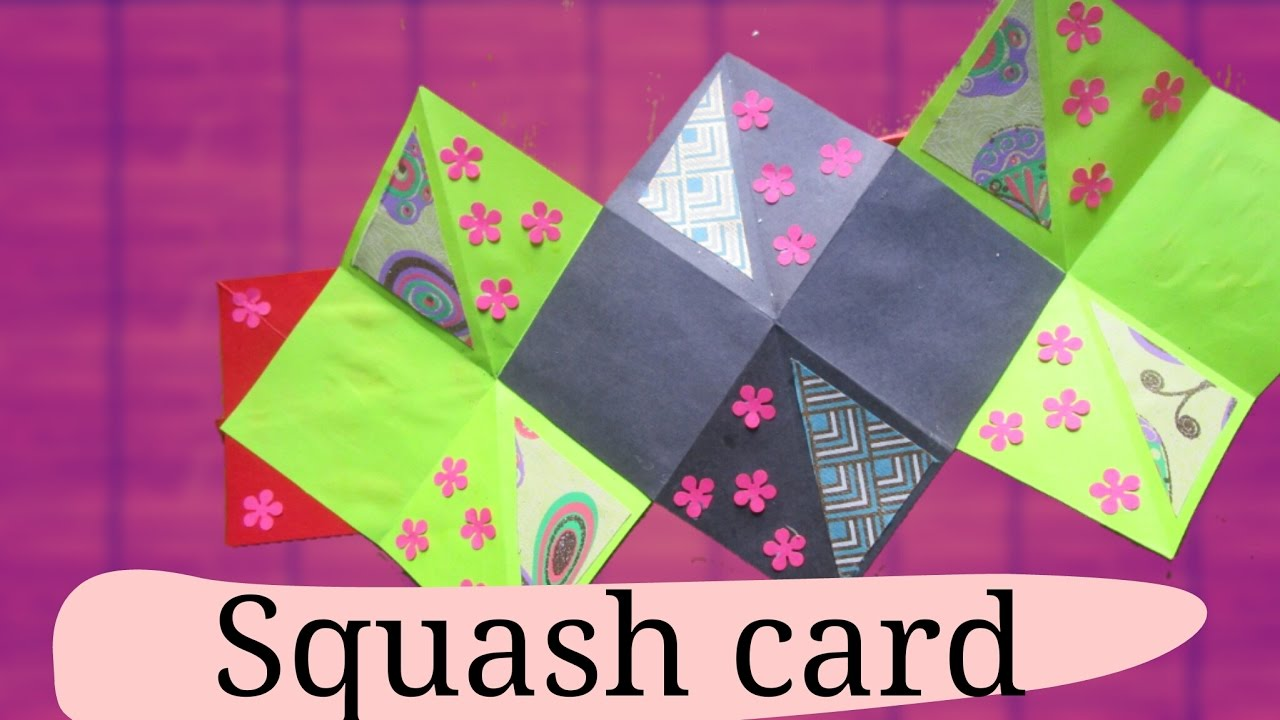 How to make a homemade scrapbook with construction paper - How To Make A Squash Card Squash Book Greeting Paper Card Diy Crafts Scrapbooking Gift