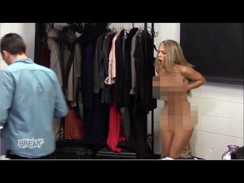 Hot Girl Naked Office Prank