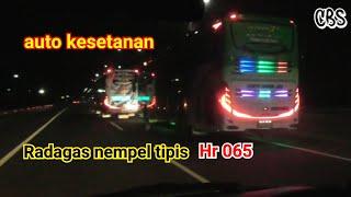 Begini dua Bus banter dipertemukan | Pak Bero Hr 065 Ft Radagas STJ ( RMS)