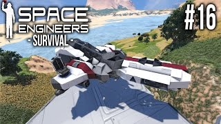 Space Engineers - SURVIVAL - Mysterious ship??!!