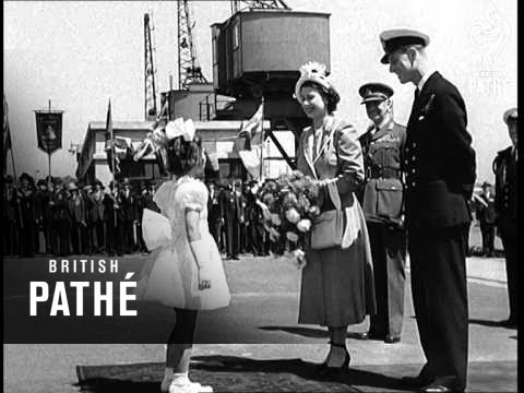 Channel Islands Greet Royal Pair (1949)