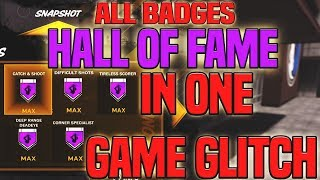 HALL OF FAME BADGE GLITCH | GET ANY BADGE IN ONE GAME | still 100% Working After Patch - NBA 2K18